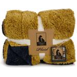 Pluche hondenkleed Wush geel 150 x 125 cm