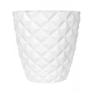 Capi Lux Heraldry pot 51x51x52 cm Wit bloempot binnen