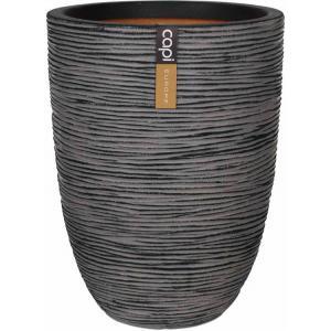 Capi Nature Rib NL vase elegant low L 44x44x56cm Antraciet bloempot