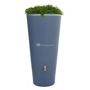 Vaso regenton met bloembak 220 liter antraciet