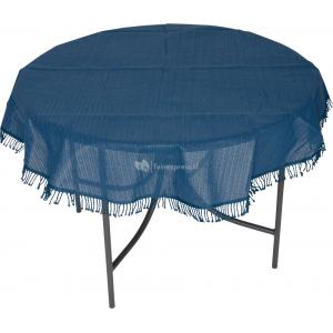 Tafelkleed rond 160cm blauw