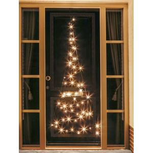 Fairybell Deurverlichting kerstboom 210 cm 60 LED warm wit