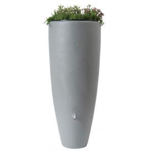 Garantia regenton met bloembak 300 liter grijs