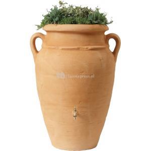 Garantia Amphore regenton met bloembak 250 liter zand