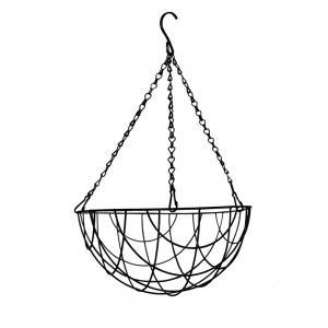 Hanging basket zwart gecoat