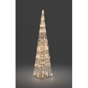LED verlichte acryl piramide 90 cm