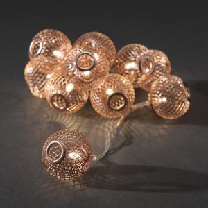 LED decoratieve lichtsnoer koperen bollen