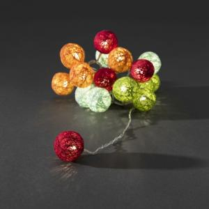 LED cotton balls lichtsnoer multicolor 3.5cm