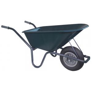 Kruiwagen basic grijs 100 liter groen