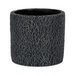 Pot Leon Black 14x13 cm zwarte ronde bloempot voor binnen