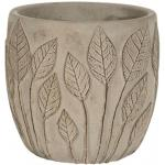Pot Nantes Grey 13x12 cm grijze ronde bloempot voor binnen