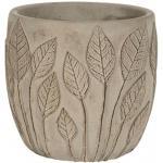 Pot Nantes Grey 15x13 cm grijze ronde bloempot voor binnen