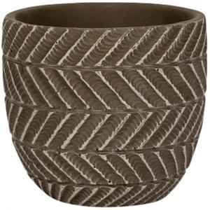 NDT International Pot Ronda Brown 11x10 cm bruine ronde bloempot voor binnen