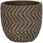 Pot Ronda Brown 14x13 cm bruine ronde bloempot voor binnen