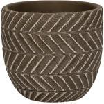 Pot Ronda Brown 17x15 cm bruine ronde bloempot voor binnen