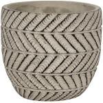Pot Ronda Grey 11x10 cm grijze ronde bloempot voor binnen