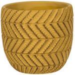Pot Ronda Yellow 14x13 cm gele ronde bloempot voor binnen