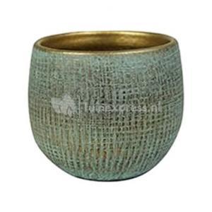 Pot Ryan shiny blue bloempot binnen 15 cm