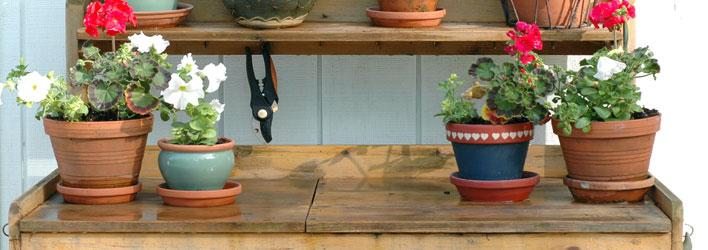 Moestuin - Tuinwerktafel