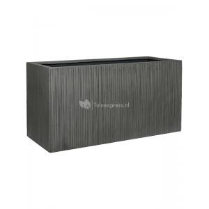 Cuboid Ridged Vertical Jort M Dark grey 100x40x50 cm rechthoekige bloempot