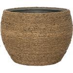 Bohemian Abby L Straw Grass ronde Rotan bloempot voor binnen 50x35 cm
