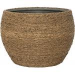 Bohemian Abby M Straw Grass ronde Rotan bloempot voor binnen 40x28 cm