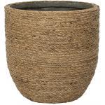 Bohemian Cody L Straw Grass ronde Rotan bloempot voor binnen 33x32 cm