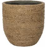 Bohemian Cody M Straw Grass ronde Rotan bloempot voor binnen 27x26 cm
