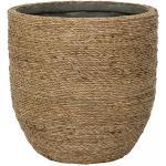 Bohemian Cody S Straw Grass ronde Rotan bloempot voor binnen 22x20 cm