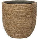 Bohemian Cody XS Straw Grass ronde Rotan bloempot voor binnen 17x15 cm