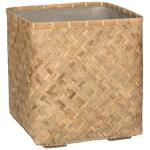Bohemian Kobe L Bamboo beige vierkante plantenbak 50x50x52 cm