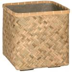 Bohemian Kobe M Bamboo beige vierkante plantenbak 40x40x41 cm