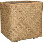 Bohemian Kobe XXL Bamboo beige vierkante plantenbak 70x70x71 cm