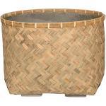 Bohemian Nala L Bamboo beige vierkante plantenbak 48x48x35 cm