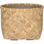 Bohemian Nala M Bamboo beige vierkante plantenbak 37x37x27 cm