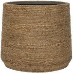 Bohemian Patt L Straw Grass ronde Rotan bloempot voor binnen 35x30 cm