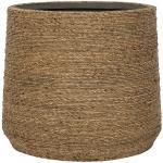 Bohemian Patt M Straw Grass ronde Rotan bloempot voor binnen 25x22 cm