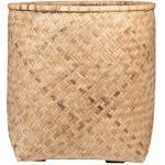 Bohemian Zayn XL Bamboo ronde beige plantenbak 70x80cm voor binnen en buiten