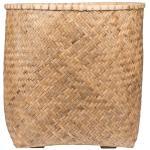 Bohemian Zayn XXL Bamboo ronde beige plantenbak 90x90cm voor binnen en buiten