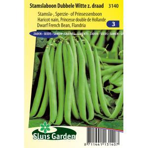 Stamslaboon (sperzieboon) zaden – Dubbele Witte zonder draad