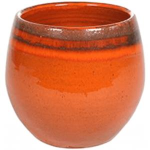 Pot Charlotte orange bloempot binnen 15 cm
