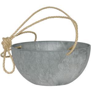 Artstone fiona hanging basket grijs M