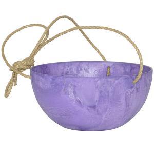 Artstone fiona hanging basket paars M