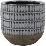 Pot Elin denim bloempot binnen 14 cm