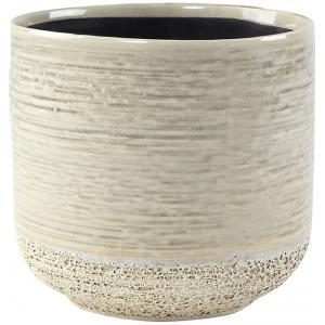 Pot Issa Light Grey 18x17cm grijze ronde bloempot voor binnen