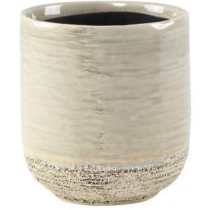 Pot Issa Light Grey 10x11cm grijze ronde bloempot voor binnen