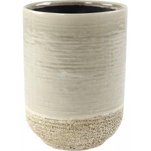 Hoge pot Issa Tall Light Grey 14x19cm grijze hoge ronde bloempot voor binnen