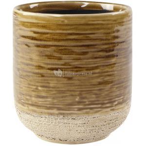 Pot Issa Yellow 10x11cm gele ronde bloempot voor binnen
