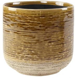 Pot Issa Yellow 13x13cm gele ronde bloempot voor binnen