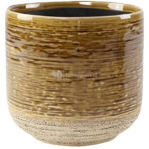 Pot Issa Yellow 15x15cm gele ronde bloempot voor binnen